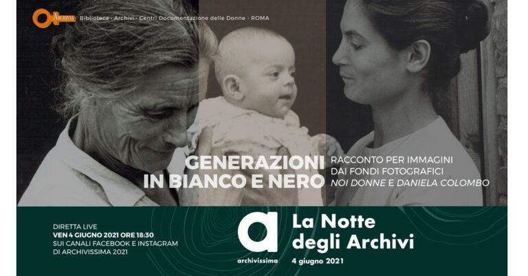 """Archivia ad Archivissima2021 con """"Generazioni in bianco e nero"""""""