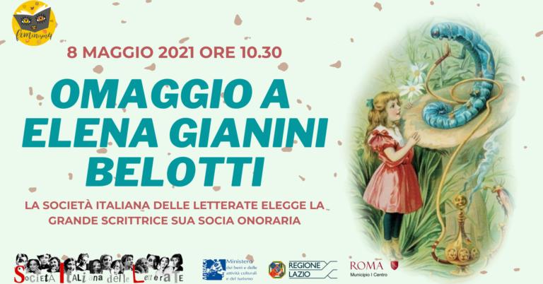 Feminism 4: Elena Gianini Belotti- La Società Italiana Letterate elegge la scrittrice sua Socia Onoraria