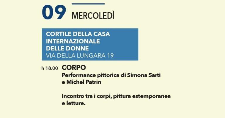 """""""Corpo"""" performance pittorica di Simona Sarti e Michel Patran"""