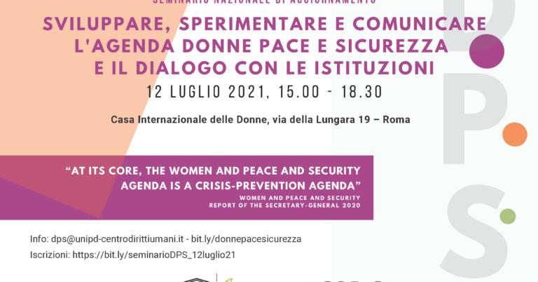 Agenda Donne Pace e Sicurezza e il dialogo con le istituzioni