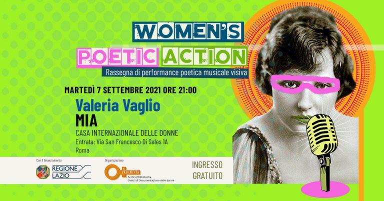 """Women's Poetic Action 2021"": Valeria Vaglio MIA"