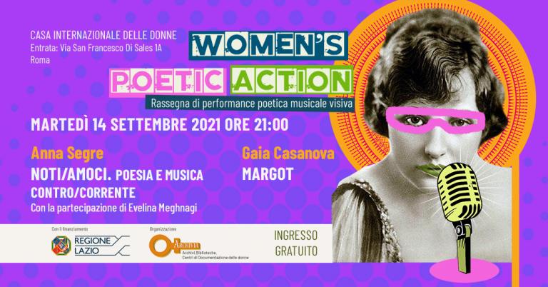 """WOMEN'S POETIC ACTION"" Anna Segre e Gaia Casanova"